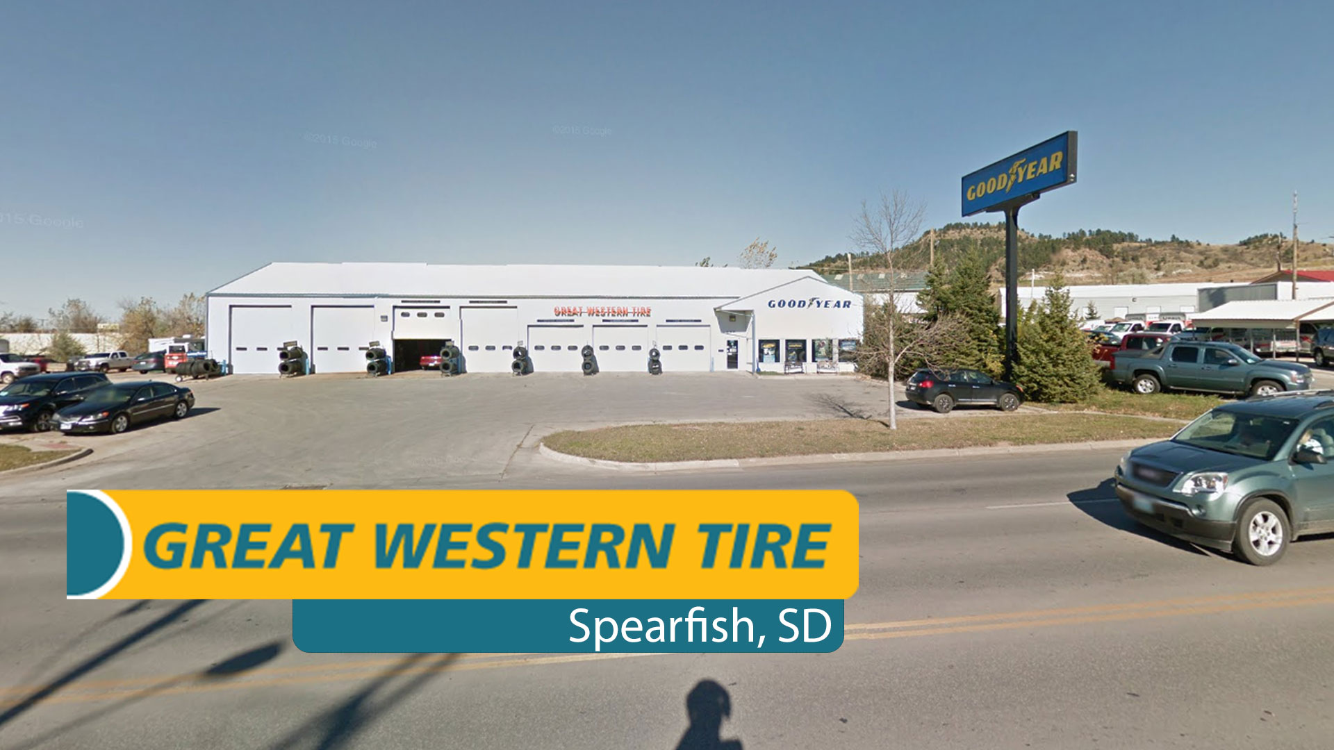 Great Western Tire store front in Spearfish